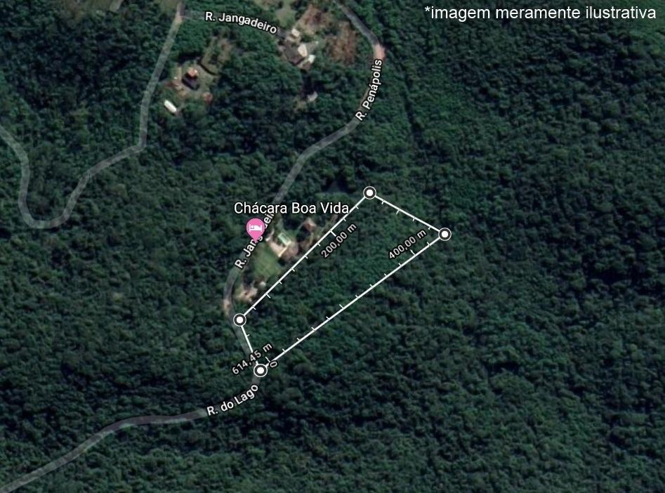 Terreno com área de 16.800 m²