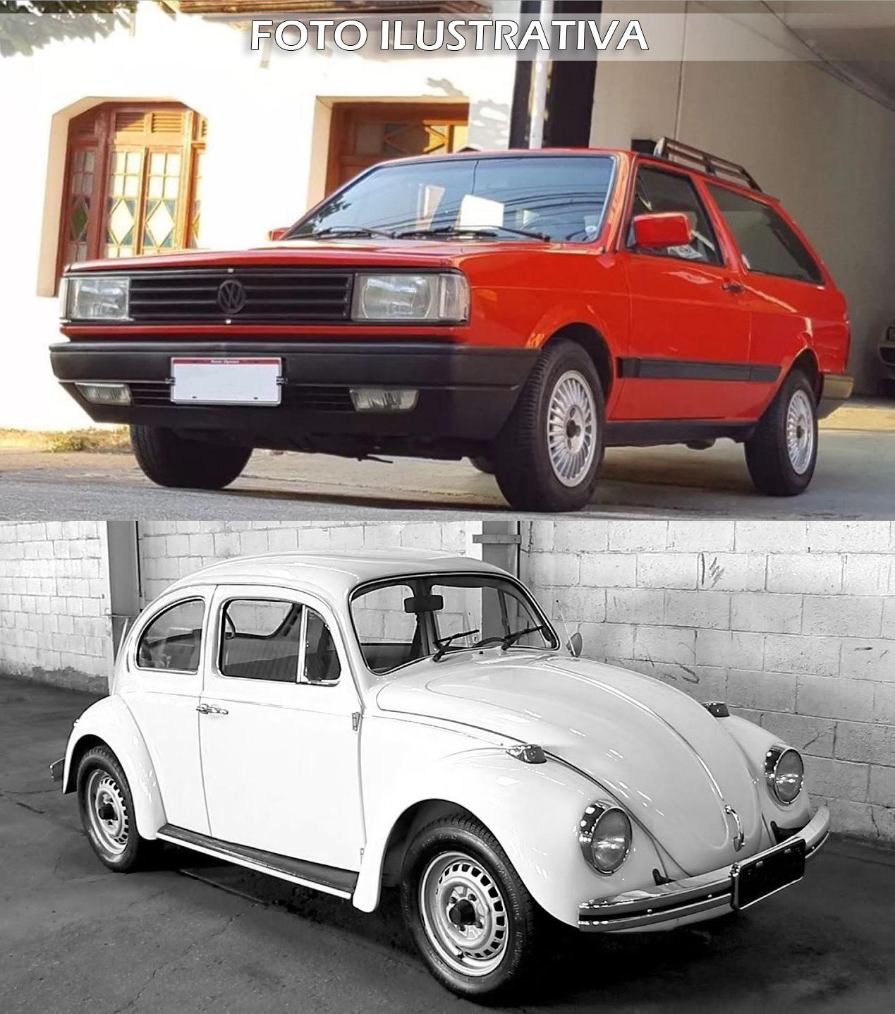 VW Parati GL ano 1990 e VW Fusca 1300 ano 1977