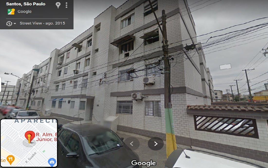 """APARTAMENTO 301 -  3º andar, do """"CONDOMÍNIO PARAGUAI"""",  Aparecida, Santos, SP,"""